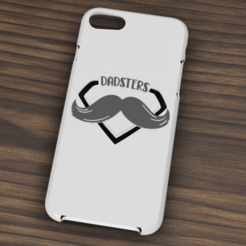 iphone 7 y 8 Dadsters.png Download STL file Case Iphone 7/8 Dadsters • 3D printer template, 3dokinfo