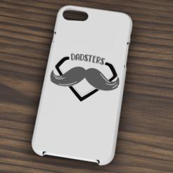 iphone 7 y 8 Dadsters.png Descargar archivo STL Case Iphone 7/8 Dadsters • Diseño para imprimir en 3D, 3dokinfo