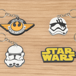 llaveros star wars pack 2.png Download STL file PACK X4 KEYCHAIN STAR WARS • Template to 3D print, 3dokinfo