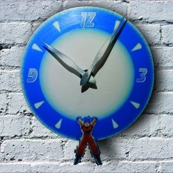 Descargar modelos 3D Goku Genkidama Clock for 3D printing and laser cutting, 3dokinfo