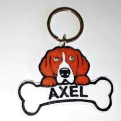 Download 3D printing templates customizable Beagle dog tag, 3dokinfo