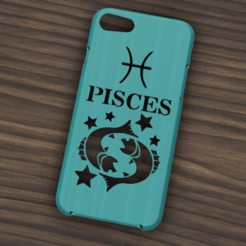 Download STL Case Iphone 7/8 Pisces sign, 3dokinfo