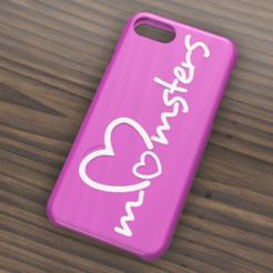 Carse Iphone 7 y 8 momsters.png Descargar archivo STL Case Iphone 7/8 Momsters • Diseño para imprimir en 3D, 3dokinfo