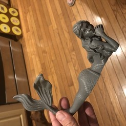 Download 3D printing models Mermaid - no supports!, npierce83