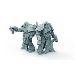 Télécharger plan imprimante 3D warhamer_ 40k_space marine, Gohamer