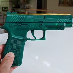 Télécharger fichier STL Pistolet à bande de caoutchouc M17R • Objet à imprimer en 3D, tracy216