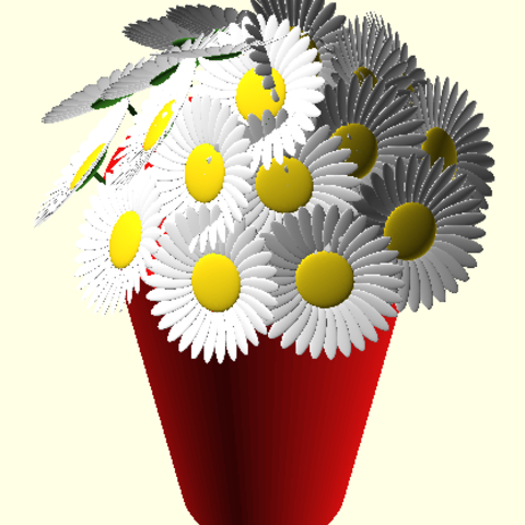 Download STL file daisies • 3D printable object, Rem38
