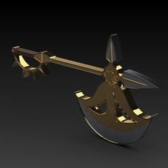 MAIN RITTHA 1.jpg Télécharger fichier 3MF Scanners Divine Axe Rhitta porte-clés modèle d'impression 3D • Modèle imprimable en 3D, PrismDesign