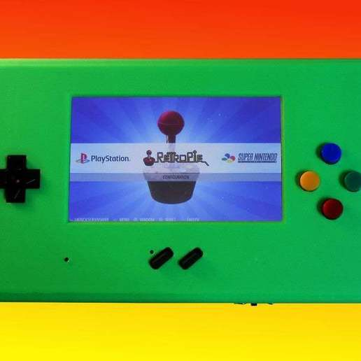 Retropie.jpg Download free STL file MyPi^2 Handheld Arcade Gameshell • 3D print design, tinkerer89