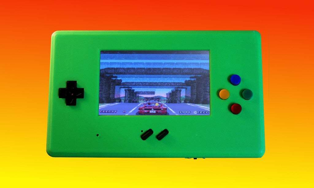 Outrun.jpg Download free STL file MyPi^2 Handheld Arcade Gameshell • 3D print design, tinkerer89