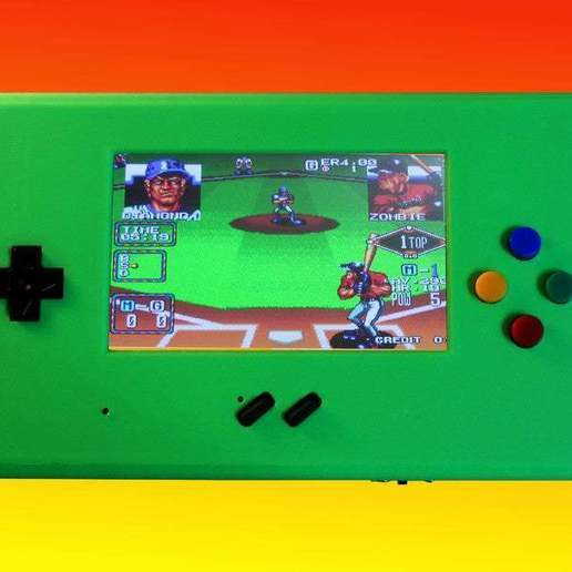 Baseball.jpg Download free STL file MyPi^2 Handheld Arcade Gameshell • 3D print design, tinkerer89