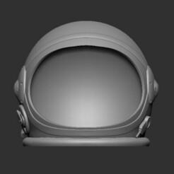 Astronauta Frontal.jpg Download STL file Astronaut helmet, Astronaut helmet • 3D print model, Ringh