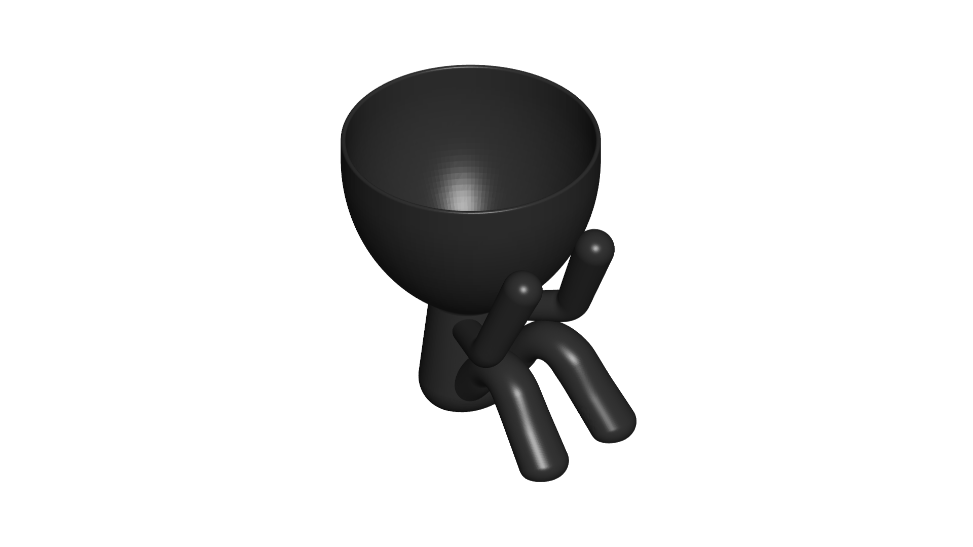 1_negro_2.png Télécharger fichier STL gratuit POT GLASS ROBERT SABIOS NO VE - LE POT GLASS ROBERT SABIOS NE VOIT PAS • Design à imprimer en 3D, CREATIONSISHI