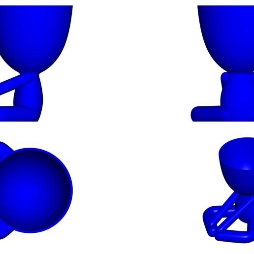 Vaso_12_Azul_2.jpg Télécharger fichier STL gratuit JARRÓN MACETA ROBERT 12 - VASE POT DE FLEURS ROBERT 12 • Plan pour imprimante 3D, CREATIONSISHI
