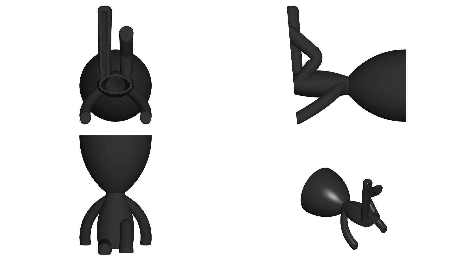 Vaso_102_negro_2.jpg Télécharger fichier STL gratuit JARRÓN MACETA ROBERT 102 - VASE POT DE FLEURS ROBERT 102 • Plan pour imprimante 3D, CREATIONSISHI