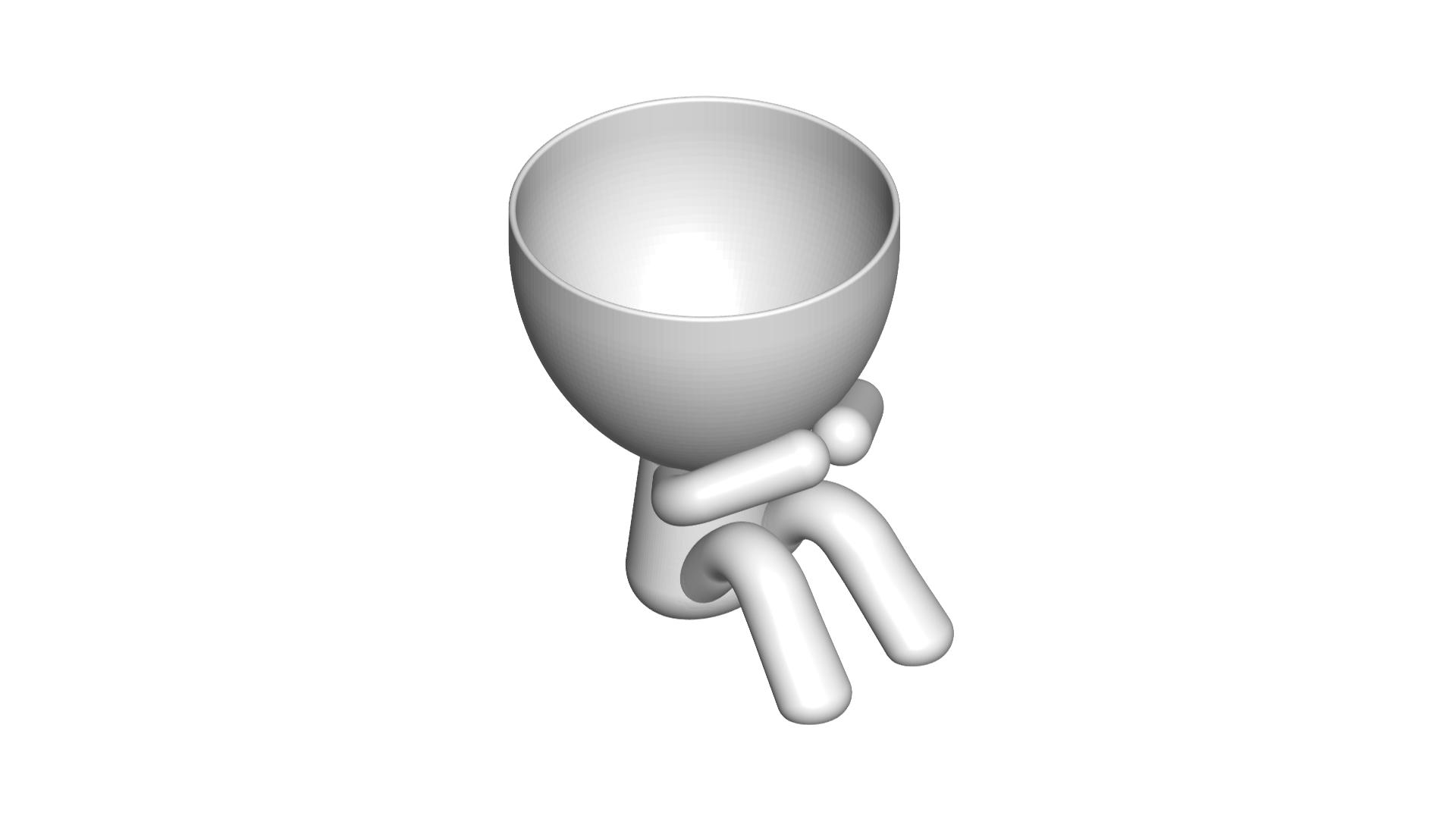 3_blanco_2.png Télécharger fichier STL gratuit POT DE VERRE ROBERT WISE JE NE PARLE PAS • Modèle pour impression 3D, CREATIONSISHI