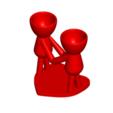 Enamorados_N4_Rojo_1.png Télécharger fichier STL gratuit N° 4 VASE POT DE FLEURS ROBERT IN LOVE • Plan à imprimer en 3D, CREATIONSISHI