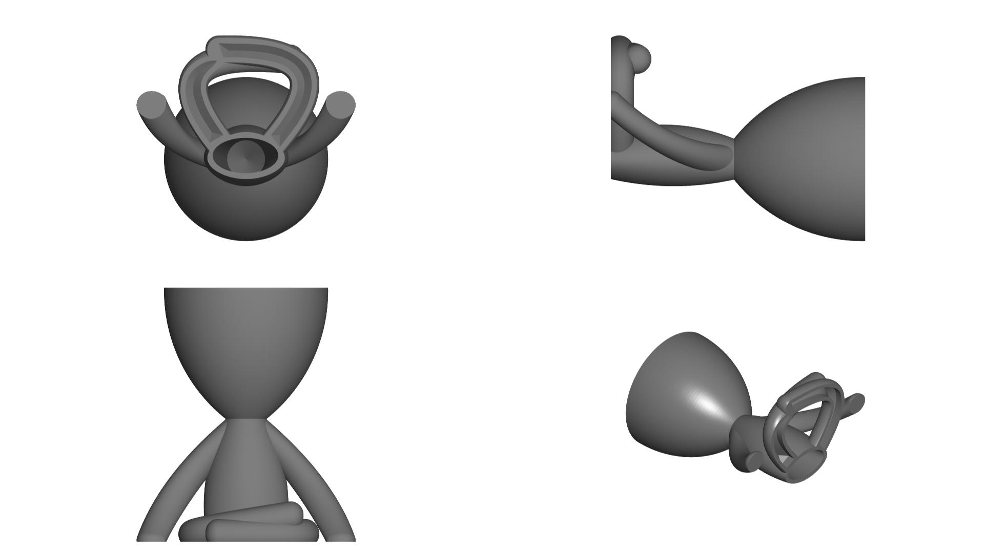 Vaso_104_Gris_2.jpg Télécharger fichier STL gratuit JARRÓN MACETA ROBERT 104 - VASE POT DE FLEURS ROBERT 104 • Objet pour imprimante 3D, CREATIONSISHI