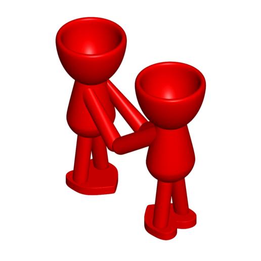 Enamorados_N5_Rojo_1.png Télécharger fichier STL gratuit N° 5 VASE POT DE FLEURS ROBERT IN LOVE • Objet pour impression 3D, CREATIONSISHI
