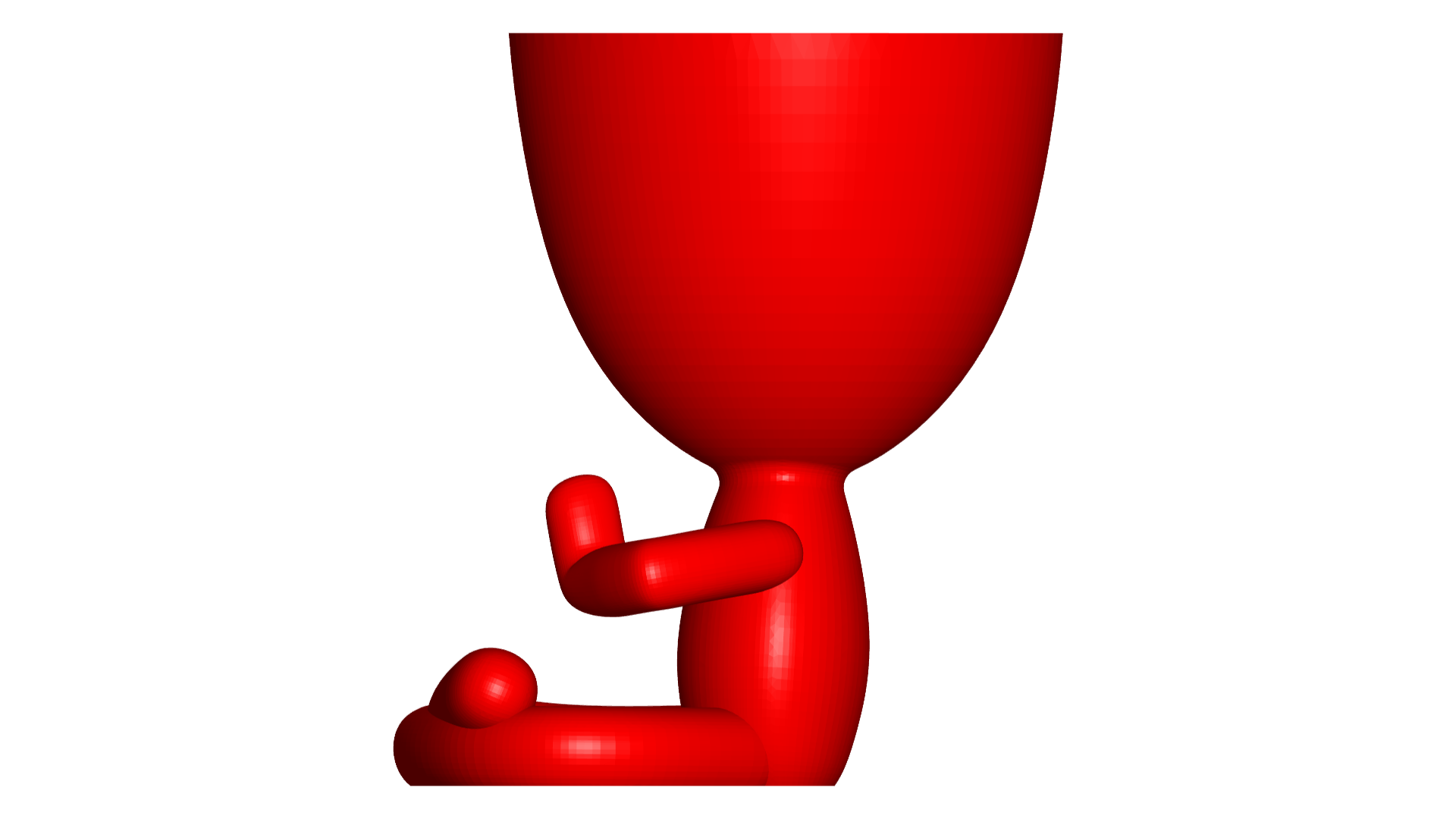 Rezando_3.png Télécharger fichier OBJ gratuit 2 vase Robert yoga - 2 pot de fleurs Robert yoga • Plan pour imprimante 3D, CREATIONSISHI
