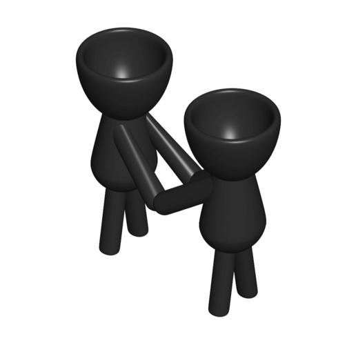 Enamorados_N3_Negro_1.png Télécharger fichier STL gratuit N° 3 VASE POT DE FLEURS ROBERT IN LOVE • Plan imprimable en 3D, CREATIONSISHI