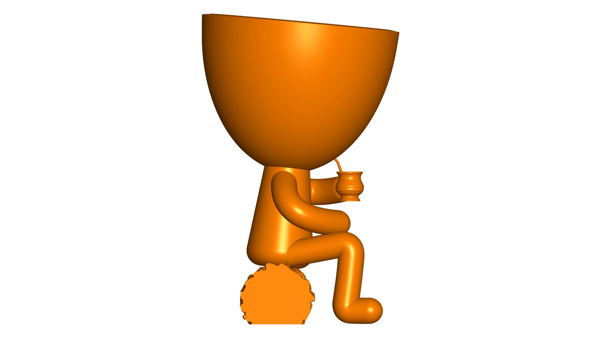 Robert Mate_3.png Télécharger fichier STL gratuit Vase pot de fleurs Argentine Uruguayen Mate Robert Plant - Vase pot de fleurs Argentine Uruguayen Mate Robert • Modèle imprimable en 3D, CREATIONSISHI