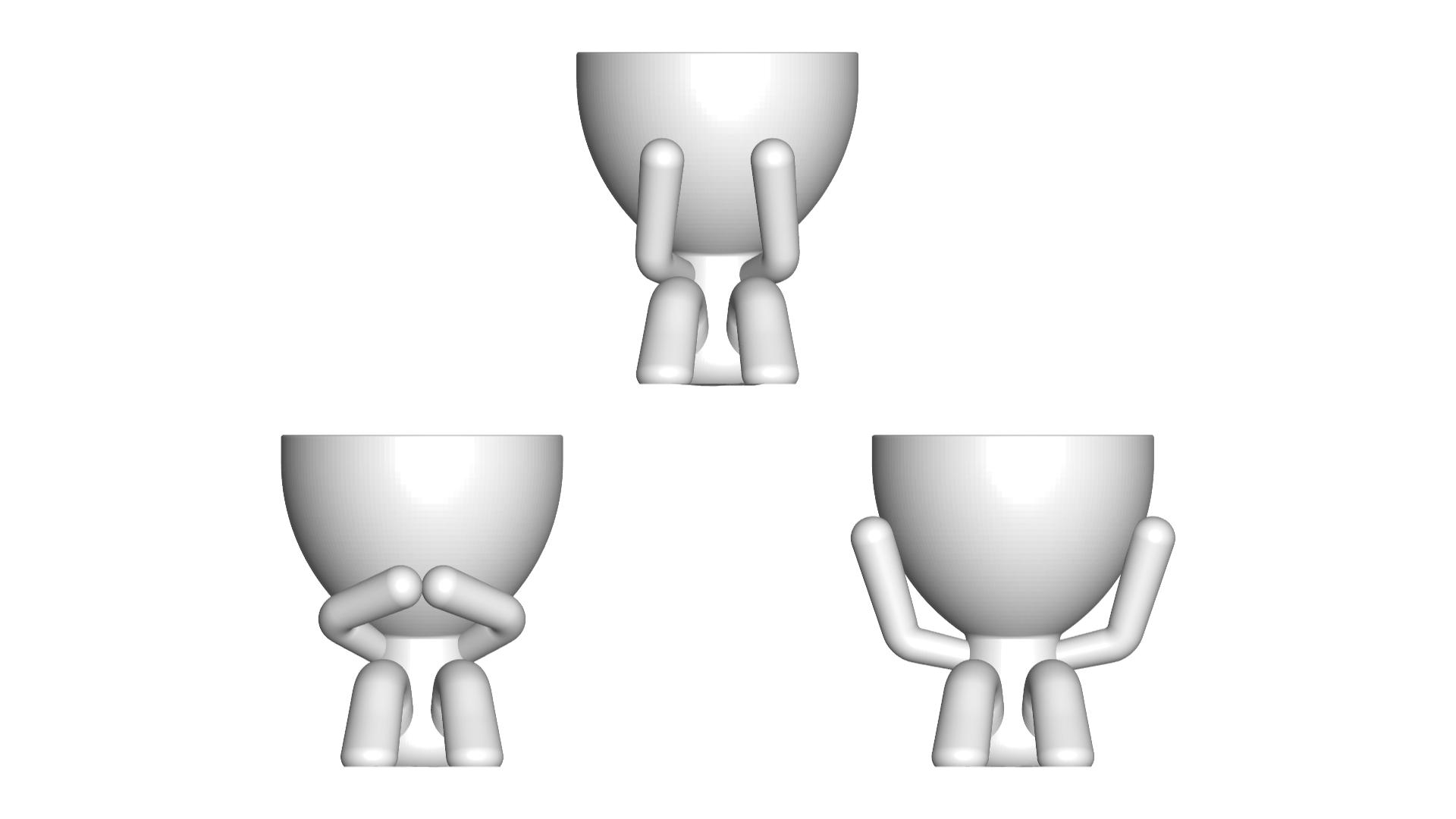 los 3 sabios_blancos.png Télécharger fichier STL gratuit Les 3 pots verres Robert Sabios Ne lit pas, n'écoute pas, ne voit pas - Les 3 pots verres Robert Sabios Ne lit pas, n'écoute pas, ne voit pas • Objet à imprimer en 3D, CREATIONSISHI