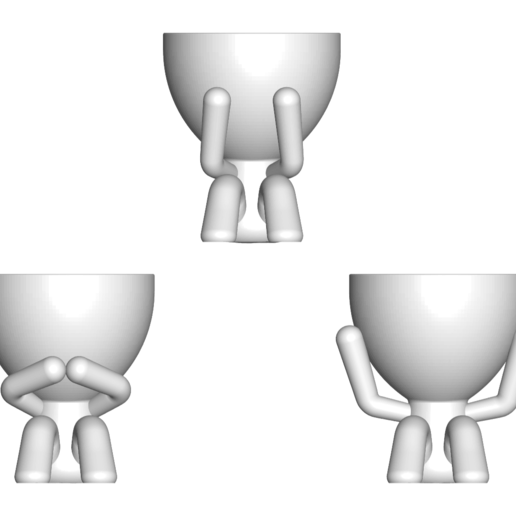 Download free STL file The 3 pots glasses Robert Sabios Does not read, Does not listen, Does not see - The 3 pots glasses Robert Sabios Does not read, Does not listen, Does not see • Object to 3D print, CREATIONSISHI