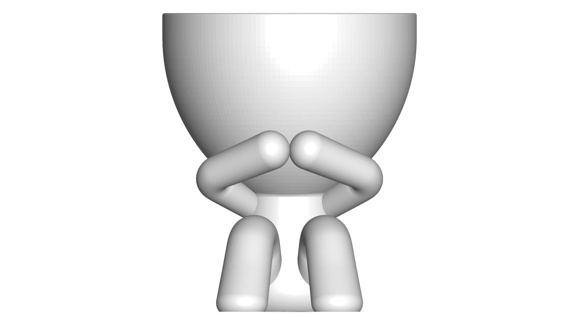 3_blanco_1.png Télécharger fichier STL gratuit POT DE VERRE ROBERT WISE JE NE PARLE PAS • Modèle pour impression 3D, CREATIONSISHI