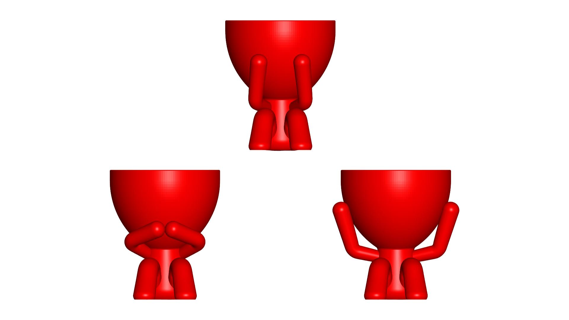 los 3 sabios_rojo.png Télécharger fichier STL gratuit Les 3 pots verres Robert Sabios Ne lit pas, n'écoute pas, ne voit pas - Les 3 pots verres Robert Sabios Ne lit pas, n'écoute pas, ne voit pas • Objet à imprimer en 3D, CREATIONSISHI