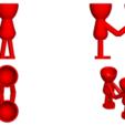 Enamorados_N5_Rojo_2.png Télécharger fichier STL gratuit N° 5 VASE POT DE FLEURS ROBERT IN LOVE • Objet pour impression 3D, CREATIONSISHI
