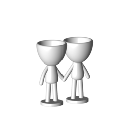 Enamorados_N6_Blanco_1.png Download free STL file N° 6 VASES ROBERT IN LOVE - N° 6 VASE 8 FLOWERPOT ROBERT IN LOVE • Template to 3D print, CREATIONSISHI