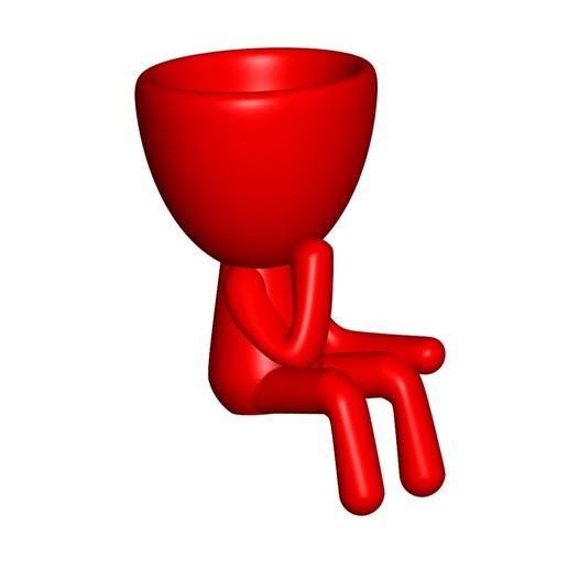 Vaso_11_Roja_1.jpg Télécharger fichier STL gratuit JARRÓN MACETA ROBERT 11 - VASE POT DE FLEURS ROBERT 11 • Design à imprimer en 3D, CREATIONSISHI