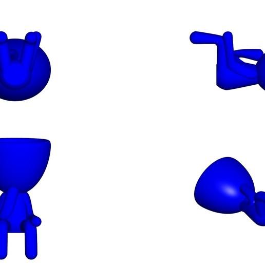Vaso_11_Azul_2.jpg Télécharger fichier STL gratuit JARRÓN MACETA ROBERT 11 - VASE POT DE FLEURS ROBERT 11 • Design à imprimer en 3D, CREATIONSISHI