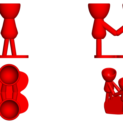 Enamorados_N4_Rojo_2.png Télécharger fichier STL gratuit N° 4 VASE POT DE FLEURS ROBERT IN LOVE • Plan à imprimer en 3D, CREATIONSISHI