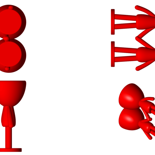 Enamorados_N6_Rojo_2.png Télécharger fichier STL gratuit N° 6 VASES ROBERT IN LOVE - N° 6 VASE 8 POT DE FLEURS ROBERT IN LOVE • Design pour imprimante 3D, CREATIONSISHI