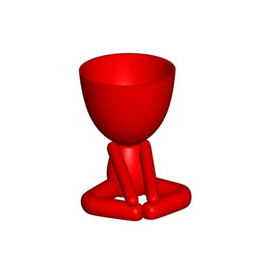 Vaso_12_Rojo_1.jpg Télécharger fichier STL gratuit JARRÓN MACETA ROBERT 12 - VASE POT DE FLEURS ROBERT 12 • Plan pour imprimante 3D, CREATIONSISHI