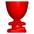 Rezando_2.png Télécharger fichier OBJ gratuit 2 vase Robert yoga - 2 pot de fleurs Robert yoga • Plan pour imprimante 3D, CREATIONSISHI