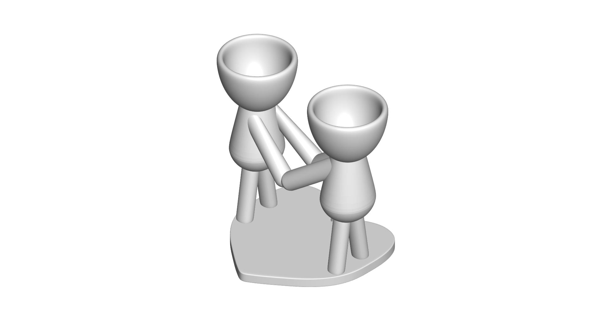 Enamorados_N4_Blanco_1.png Télécharger fichier STL gratuit N° 4 VASE POT DE FLEURS ROBERT IN LOVE • Plan à imprimer en 3D, CREATIONSISHI