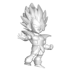 Télécharger fichier STL gratuit Dragon Ball Z DBZ / Figurine miniature à collectionner Dragon Ball Z DBZ Vegetta • Plan imprimable en 3D, CREATIONSISHI