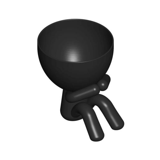 3_negro_2.png Télécharger fichier STL gratuit POT DE VERRE ROBERT WISE JE NE PARLE PAS • Modèle pour impression 3D, CREATIONSISHI