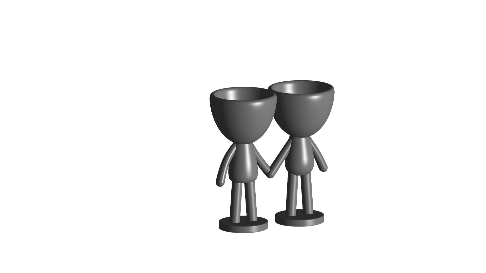 Enamorados_N6_Gris_1.png Télécharger fichier STL gratuit N° 6 VASES ROBERT IN LOVE - N° 6 VASE 8 POT DE FLEURS ROBERT IN LOVE • Design pour imprimante 3D, CREATIONSISHI