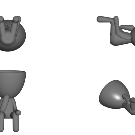Vaso_11_Gris_2.jpg Télécharger fichier STL gratuit JARRÓN MACETA ROBERT 11 - VASE POT DE FLEURS ROBERT 11 • Design à imprimer en 3D, CREATIONSISHI