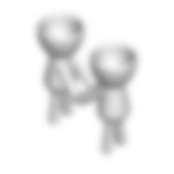 Enamorados 3.stl Télécharger fichier STL gratuit N° 3 VASE POT DE FLEURS ROBERT IN LOVE • Plan imprimable en 3D, CREATIONSISHI