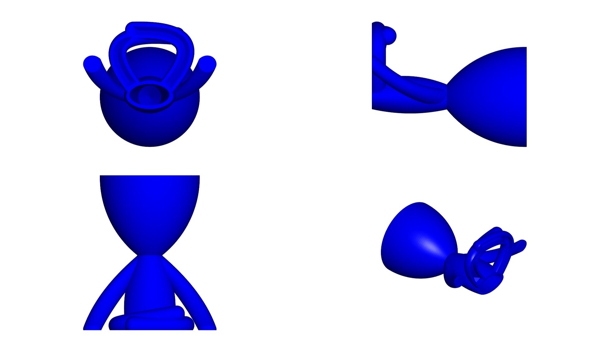 Vaso_104_Azul_2.jpg Télécharger fichier STL gratuit JARRÓN MACETA ROBERT 104 - VASE POT DE FLEURS ROBERT 104 • Objet pour imprimante 3D, CREATIONSISHI