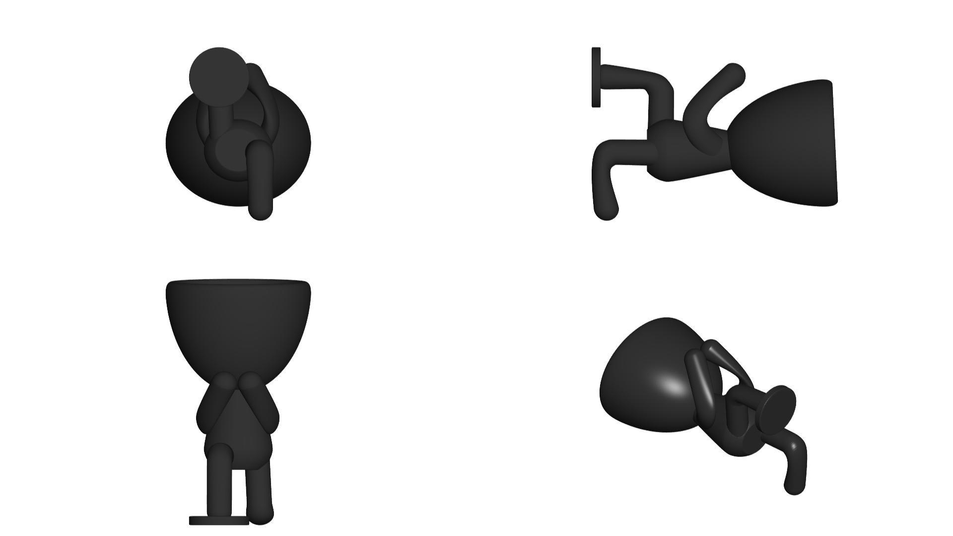 Vaso_08_Negro_2.jpg Télécharger fichier STL gratuit JARRÓN MACETA ROBERT 08 - VASE POT DE FLEURS ROBERT 08 • Modèle à imprimer en 3D, CREATIONSISHI