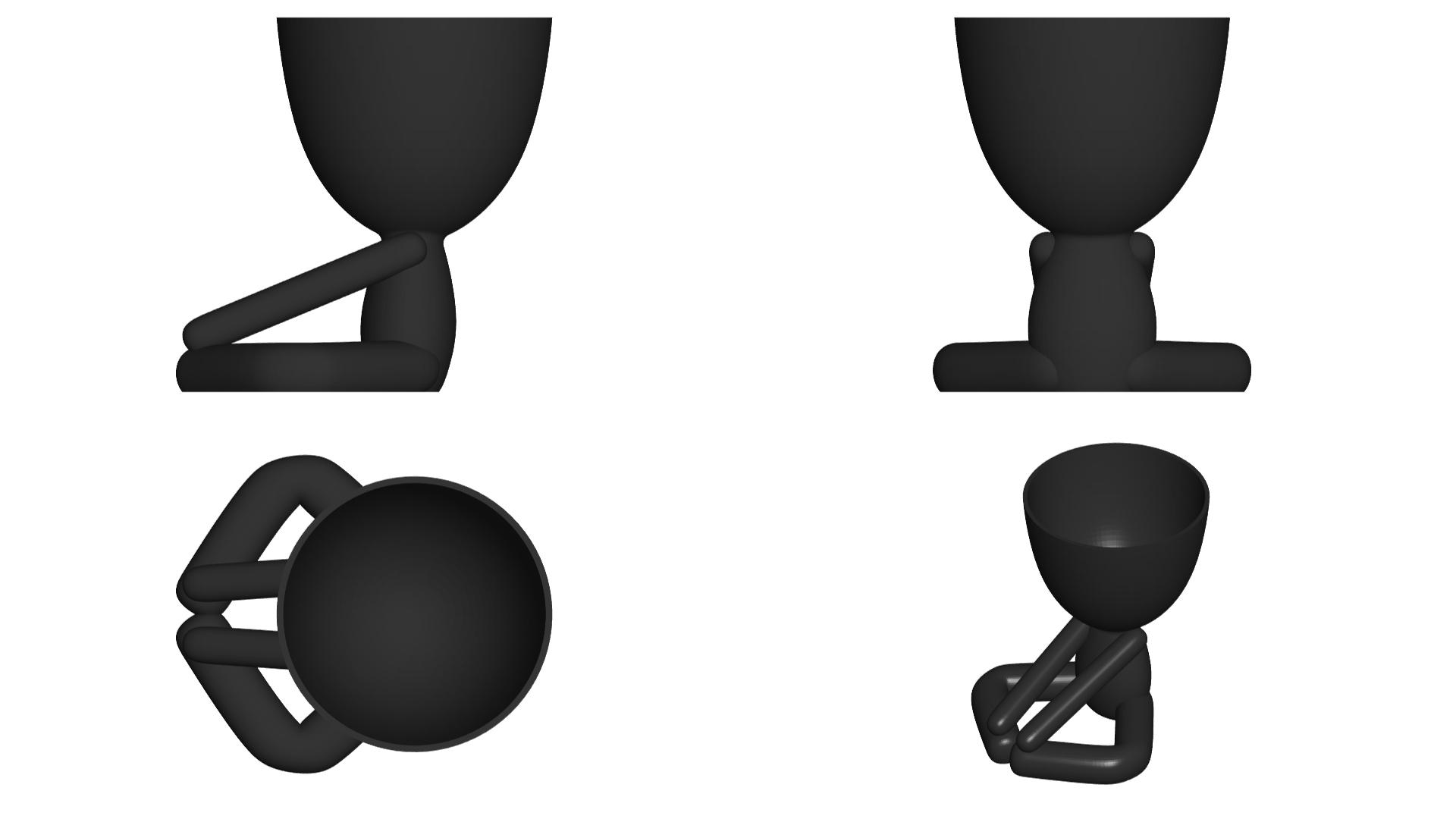 Vaso_12_Negro_2.jpg Télécharger fichier STL gratuit JARRÓN MACETA ROBERT 12 - VASE POT DE FLEURS ROBERT 12 • Plan pour imprimante 3D, CREATIONSISHI