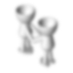 Enamorados 5.stl Télécharger fichier STL gratuit N° 5 VASE POT DE FLEURS ROBERT IN LOVE • Objet pour impression 3D, CREATIONSISHI