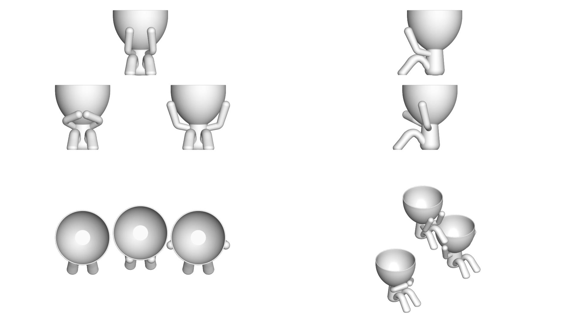 los 3 sabios_blancos_2.png Télécharger fichier STL gratuit Les 3 pots verres Robert Sabios Ne lit pas, n'écoute pas, ne voit pas - Les 3 pots verres Robert Sabios Ne lit pas, n'écoute pas, ne voit pas • Objet à imprimer en 3D, CREATIONSISHI