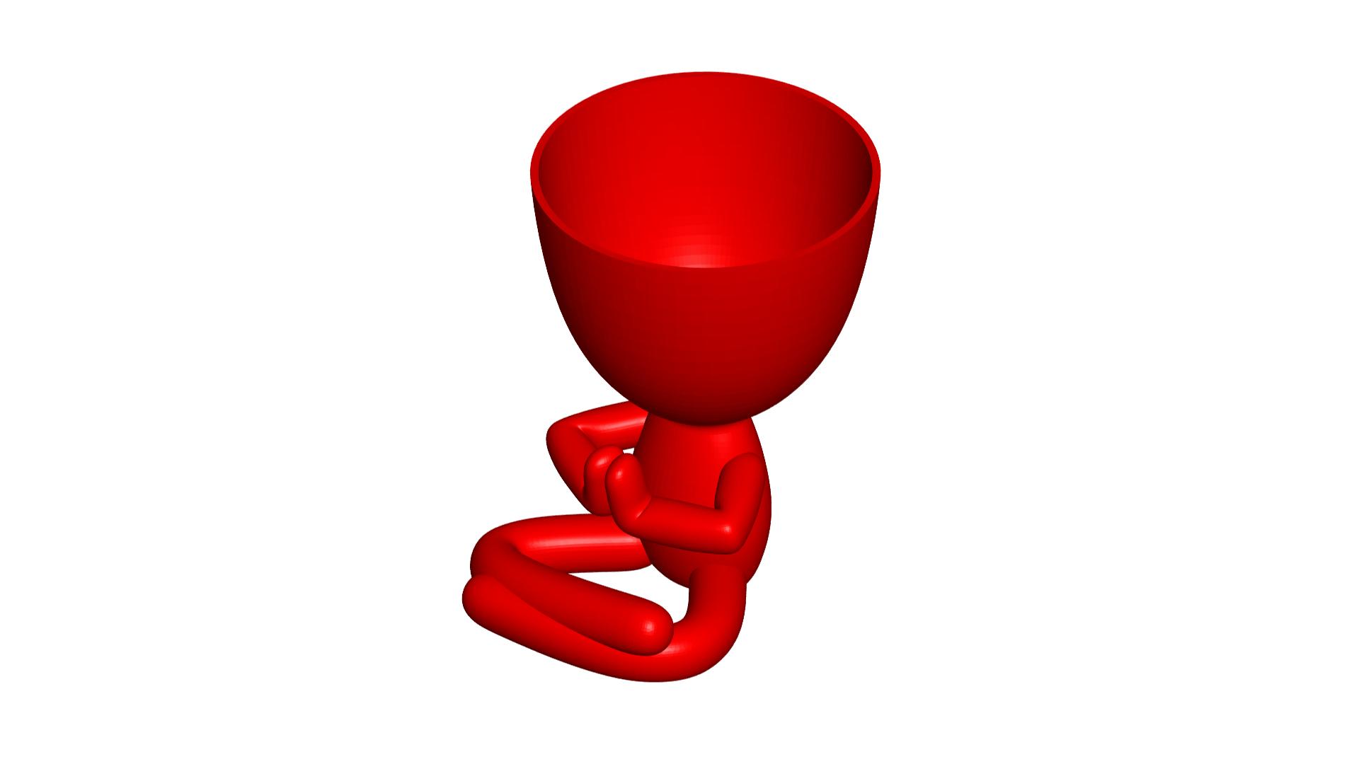 Rezando_1.png Télécharger fichier OBJ gratuit 2 vase Robert yoga - 2 pot de fleurs Robert yoga • Plan pour imprimante 3D, CREATIONSISHI